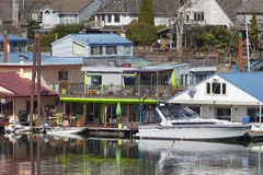 Two level floating house, Portland OR. Stock Photos