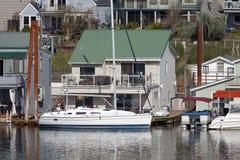 Two level floating house, Portland OR. Stock Image