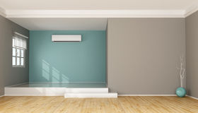 Modern Living Room With Air Conditioner Stock Illustration Image - Living room air conditioner