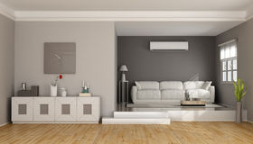 Two levels modern living room Royalty Free Stock Image