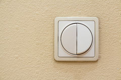 Two levers ivory light switch Stock Photos