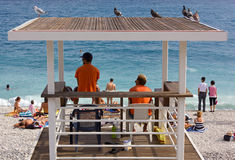 Two Lifeguards on Duty royalty free stock photos