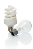 Two light bulb Stock Images