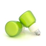 Two light bulb composition Stock Photos