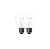 Two light bulb on white Stock Image