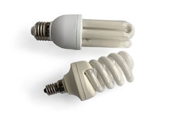 Two light bulbs Royalty Free Stock Photography