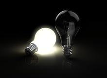 Two light bulbs Royalty Free Stock Photo