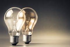 Two light bulbs Stock Photography