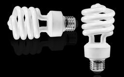 Two light bulbs Royalty Free Stock Images
