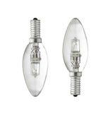 Two light bulbs Stock Photos