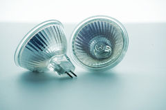 Two light-emitting diode lamps Stock Photo