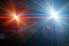 Two light flares. Royalty Free Stock Photo
