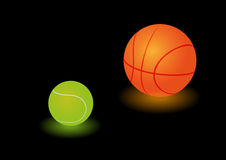 Two light sport balls Royalty Free Stock Image