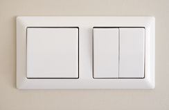 Two light switches Stock Photo