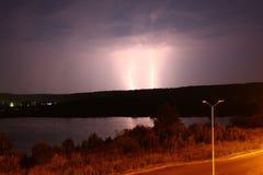 Two lightning Royalty Free Stock Photos