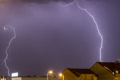 Two Lightning bolts Stock Photos
