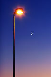 Two lights. Natural and artificial Royalty Free Stock Photography