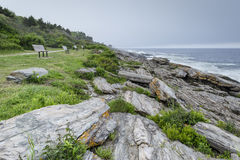 Two Lights State Park on the Maine Coast Stock Image
