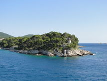 Two lihgthouses at Adriatic Sea Royalty Free Stock Photo