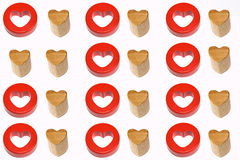 Two like hearts Stock Images
