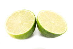 Two lime halves Stock Images