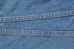 Two line on blue jean Stock Photography
