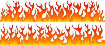 Two line of seamless fire Stock Photography