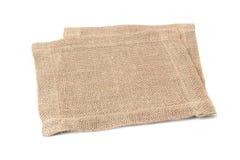 Two linen napkins on white. Two linen napkins isolated on white background Royalty Free Stock Photo