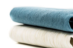 Two linen texture table cloth Stock Photo