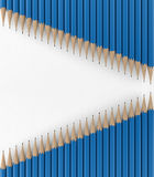 Two lines of blue pencils. 3d render. Ing Royalty Free Stock Photo