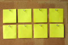 Two Lines Of Blank Post-its Stock Photos