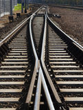 Two lines of railway  track Stock Photography