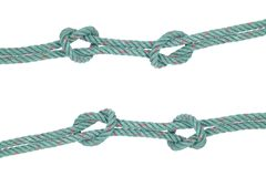 Two lines of Rope knot symbol isolated on white Stock Photography