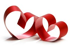 Two linked hearts Royalty Free Stock Photography