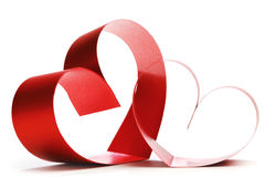 Two linked hearts Stock Photography