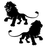 Two lion figure symbols Stock Photos