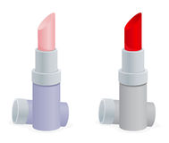 Two Lipstick containers Stock Photography