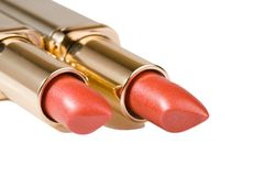 Two lipsticks Royalty Free Stock Images