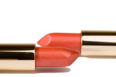 Two lipsticks Stock Photos