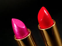 Two Lipsticks Royalty Free Stock Photos