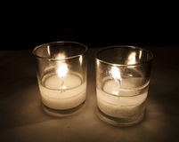 Two Lit Candles Royalty Free Stock Photography