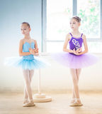 The two little ballet girls in tutu Stock Photos