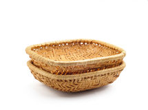 Two Little Baskets on White Royalty Free Stock Photo