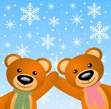 Two little bears Royalty Free Stock Images