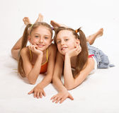 Two little blond girls Royalty Free Stock Photo