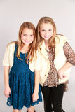 Two little blonde girls smiling Royalty Free Stock Photos