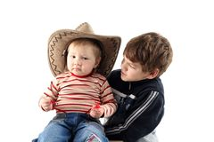 Two little boys (brothers) Royalty Free Stock Photography