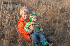 Two little brothers Stock Photography