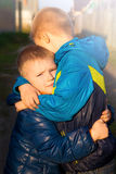 Two little brothers (friends) Stock Photography