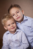 Two little brothers portrait Stock Images